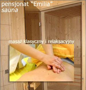 sauna i masaż w pensjonacie
