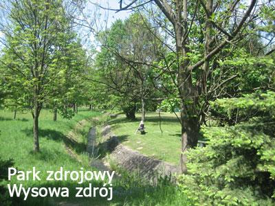Park zdrojowy Wysowa Zdrój